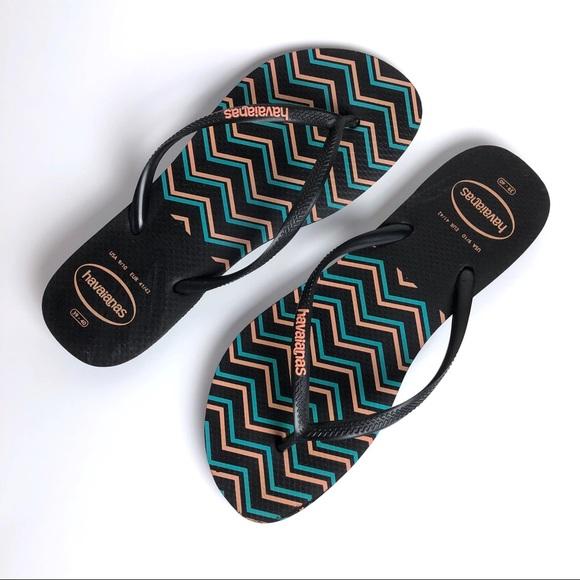Havaianas Shoes - Havaianas Chevron Flip Flops